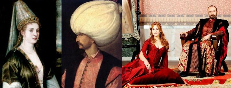 Султан Сулейман Великолепный и его супруга Хюррем-султан; они же в сериале «Великолепный век»