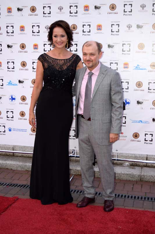 Ольга Кабо и Александр Ковтунец на церемонии открытия