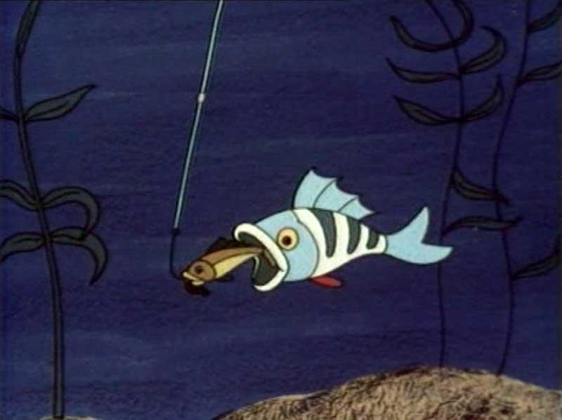 кот рыболов видео мультик