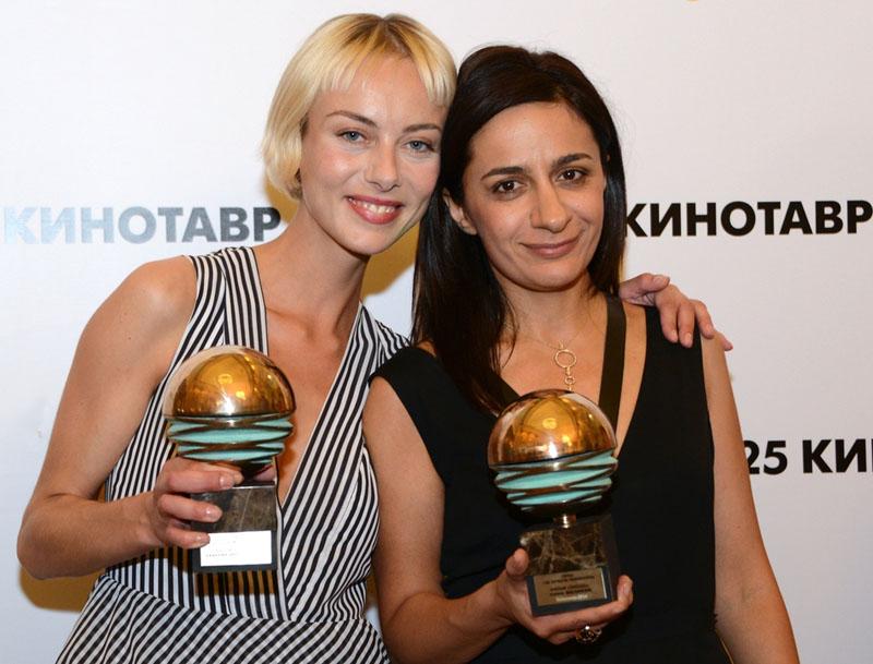 Анна Меликян и Северия Янушаускайте с призами «Кинотавра» за «Звезду»