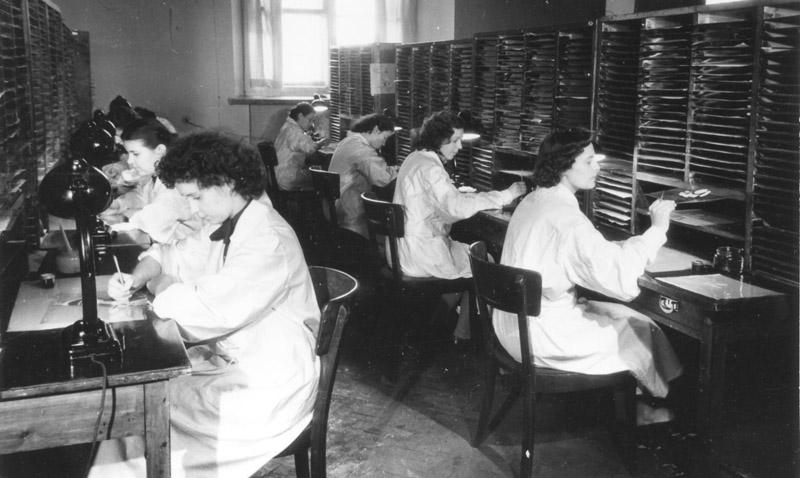 Заливка (работа над фильмом Двенадцать месяцев и др.) (студия Союзмультфильм, 1950-е гг.)