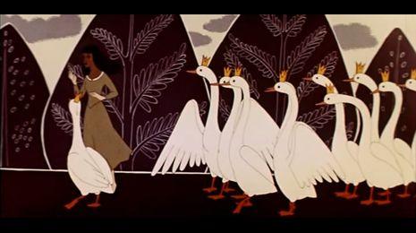 Из фильма Дикие лебеди (реж. Михаил Цехановский)